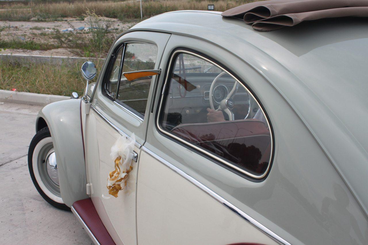 White 1964 Vw Beetle Back 3 Perfect Wedding Cars Singapore